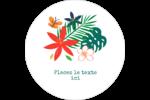 Plantes tropicales Étiquettes arrondies - gabarit prédéfini. <br/>Utilisez notre logiciel Avery Design & Print Online pour personnaliser facilement la conception.