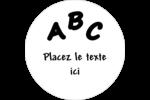 Enseignement préscolaire Étiquettes arrondies - gabarit prédéfini. <br/>Utilisez notre logiciel Avery Design & Print Online pour personnaliser facilement la conception.