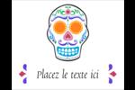 Le jour du Crâne Étiquettes rondes gaufrées - gabarit prédéfini. <br/>Utilisez notre logiciel Avery Design & Print Online pour personnaliser facilement la conception.