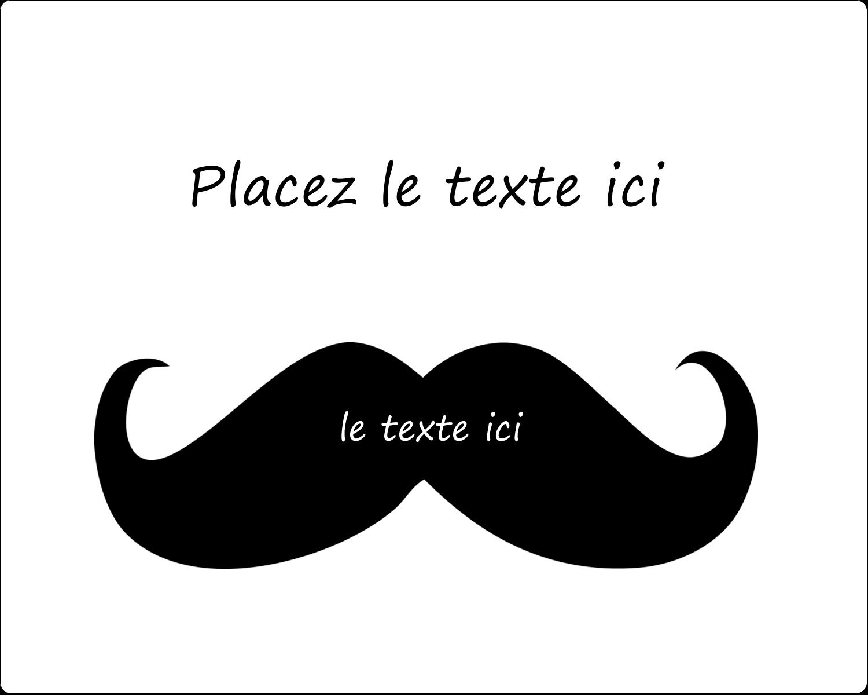 """2"""" Diameter Étiquettes rondes gaufrées - Moustache de bonbons"""
