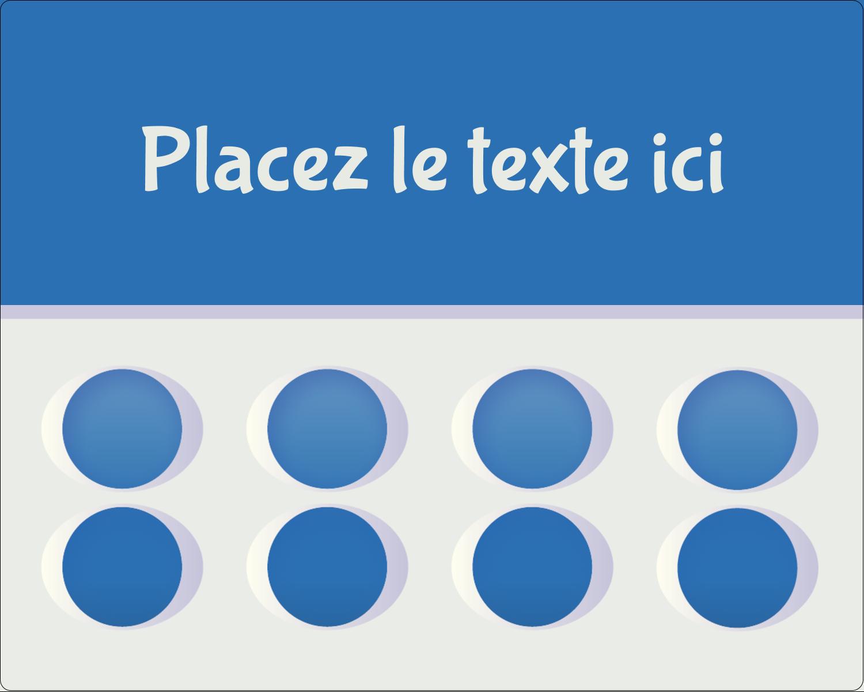 """2"""" Diameter Étiquettes rondes gaufrées - 4e étage"""