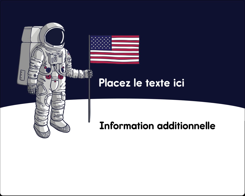 """2"""" Diameter Étiquettes rondes gaufrées - Astronaute"""