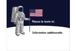 Astronaute Étiquettes rondes gaufrées - gabarit prédéfini. <br/>Utilisez notre logiciel Avery Design & Print Online pour personnaliser facilement la conception.