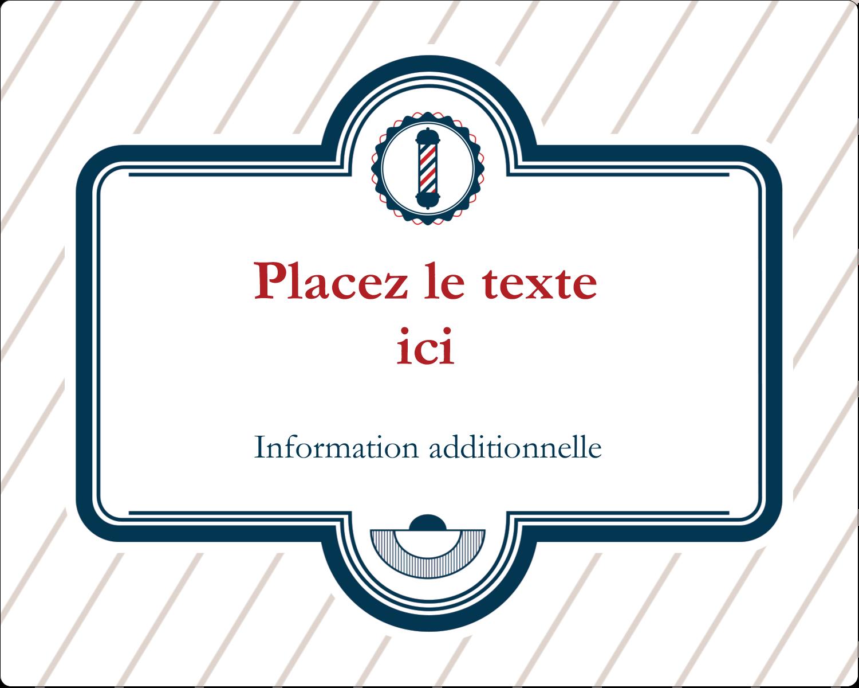"""2"""" Diameter Étiquettes rondes gaufrées - Enseigne de barbier"""