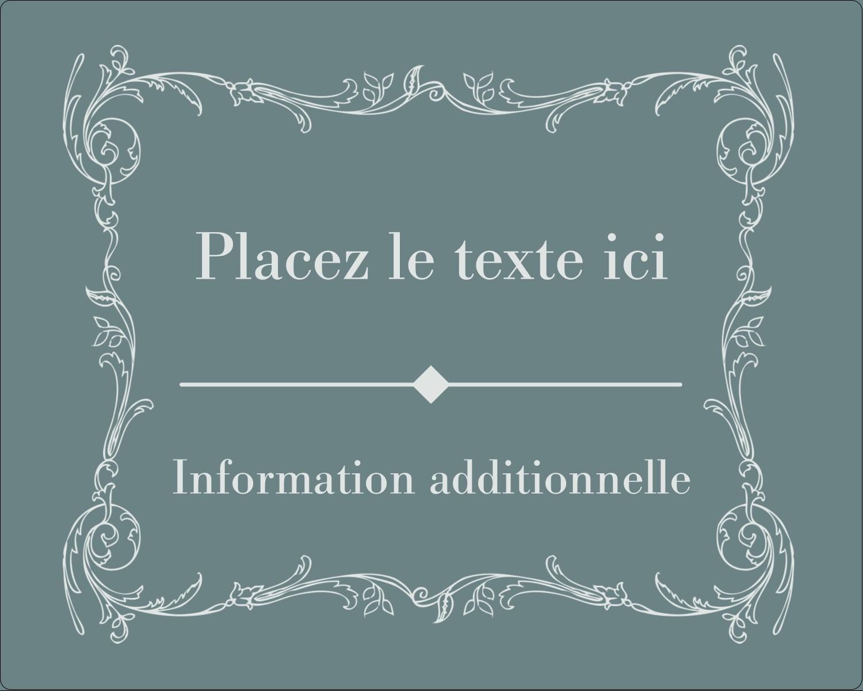 """2"""" Diameter Étiquettes rondes gaufrées - Cachet français"""