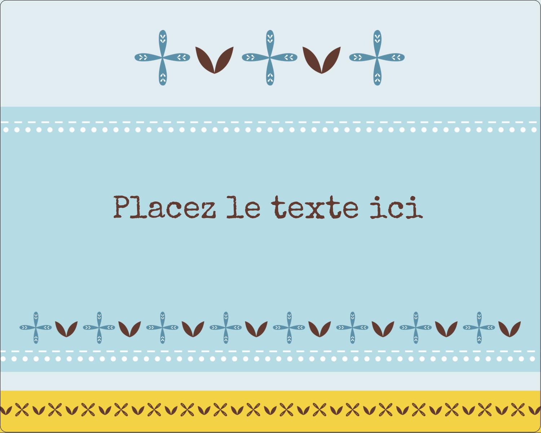 """2"""" Diameter Étiquettes rondes gaufrées - Bain bleu"""