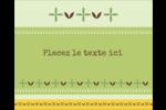 Fleurs vertes géométriques Étiquettes rondes gaufrées - gabarit prédéfini. <br/>Utilisez notre logiciel Avery Design & Print Online pour personnaliser facilement la conception.
