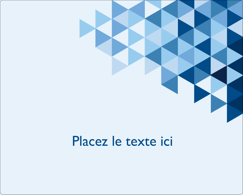 """2"""" Diameter Étiquettes rondes gaufrées - Angles bleus"""