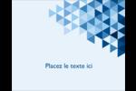 Angles bleus  Étiquettes rondes gaufrées - gabarit prédéfini. <br/>Utilisez notre logiciel Avery Design & Print Online pour personnaliser facilement la conception.