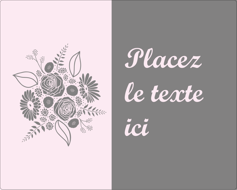 """2"""" Diameter Étiquettes rondes gaufrées - Bouquet de fleurs"""