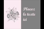 Bouquet de fleurs Étiquettes rondes gaufrées - gabarit prédéfini. <br/>Utilisez notre logiciel Avery Design & Print Online pour personnaliser facilement la conception.