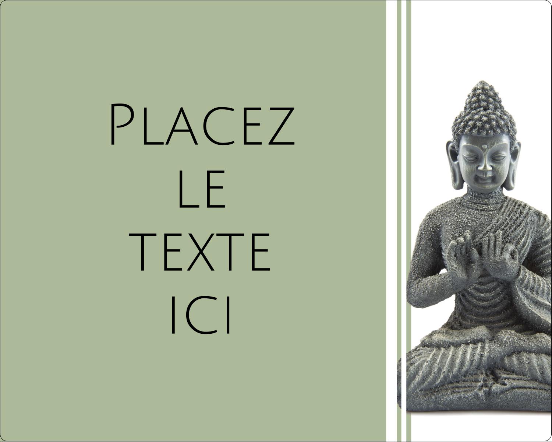 """2"""" Diameter Étiquettes rondes gaufrées - Bouddha"""