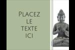 Bouddha Étiquettes rondes gaufrées - gabarit prédéfini. <br/>Utilisez notre logiciel Avery Design & Print Online pour personnaliser facilement la conception.