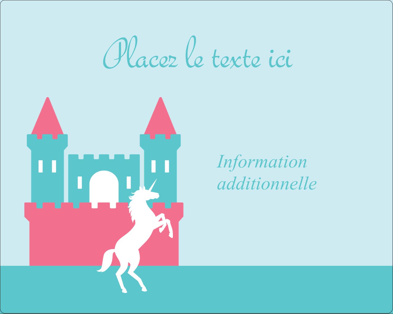 """2"""" Diameter Étiquettes rondes gaufrées - Château"""
