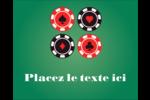 Partie de poker Étiquettes rondes gaufrées - gabarit prédéfini. <br/>Utilisez notre logiciel Avery Design & Print Online pour personnaliser facilement la conception.