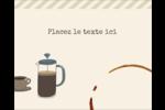 L'heure du café Étiquettes rondes gaufrées - gabarit prédéfini. <br/>Utilisez notre logiciel Avery Design & Print Online pour personnaliser facilement la conception.