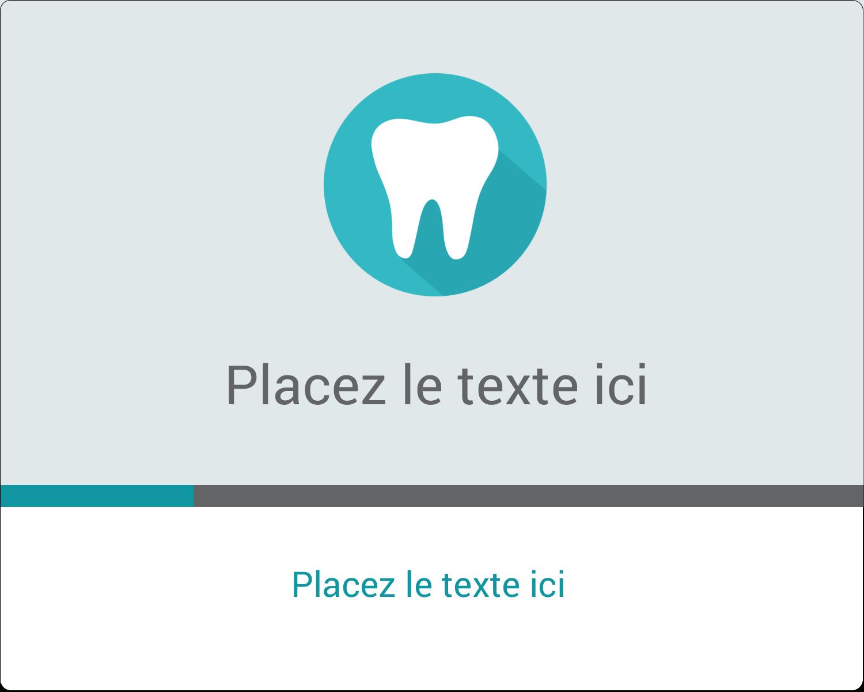 """2"""" Diameter Étiquettes rondes gaufrées - Dent"""