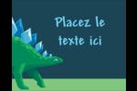 Dinosaure Étiquettes rondes gaufrées - gabarit prédéfini. <br/>Utilisez notre logiciel Avery Design & Print Online pour personnaliser facilement la conception.