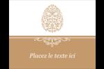 Œuf de Pâques de couleur bronze Étiquettes rondes gaufrées - gabarit prédéfini. <br/>Utilisez notre logiciel Avery Design & Print Online pour personnaliser facilement la conception.