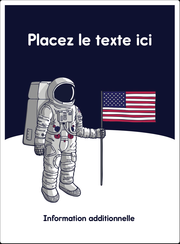 """2½"""" Diameter Étiquettes rondes - Astronaute"""