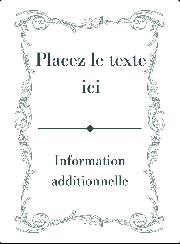 """2½"""" Diameter Étiquettes rondes - Cachet français"""