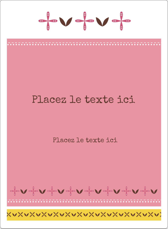 """2½"""" Diameter Étiquettes rondes - Fleurs roses géométriques"""