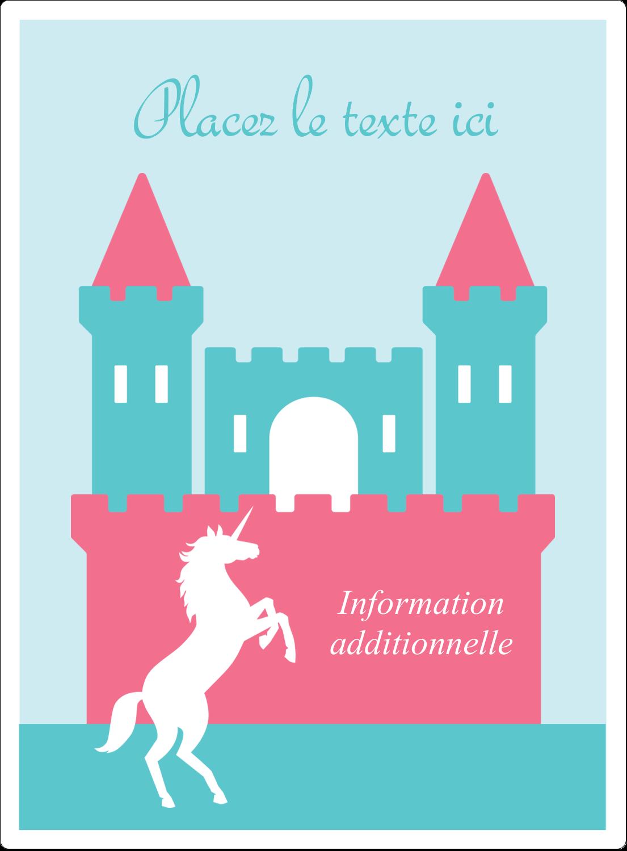 """2½"""" Diameter Étiquettes rondes - Château"""