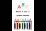 Enseignement préscolaire Étiquettes rondes - gabarit prédéfini. <br/>Utilisez notre logiciel Avery Design & Print Online pour personnaliser facilement la conception.