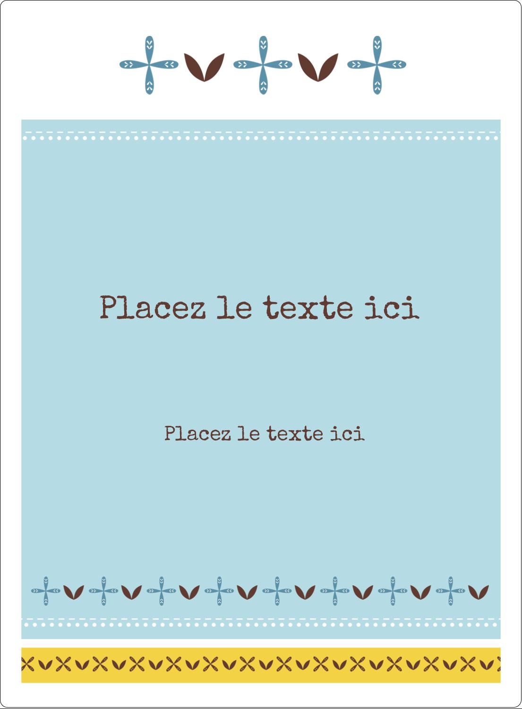 """2½"""" Diameter Étiquettes rondes - Bain bleu"""