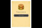 Hamburger Étiquettes rondes - gabarit prédéfini. <br/>Utilisez notre logiciel Avery Design & Print Online pour personnaliser facilement la conception.