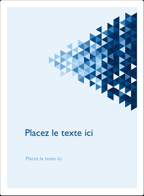 """2½"""" Diameter Étiquettes rondes - Angles bleus"""
