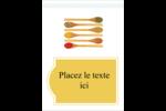 Cuillères Étiquettes rondes - gabarit prédéfini. <br/>Utilisez notre logiciel Avery Design & Print Online pour personnaliser facilement la conception.