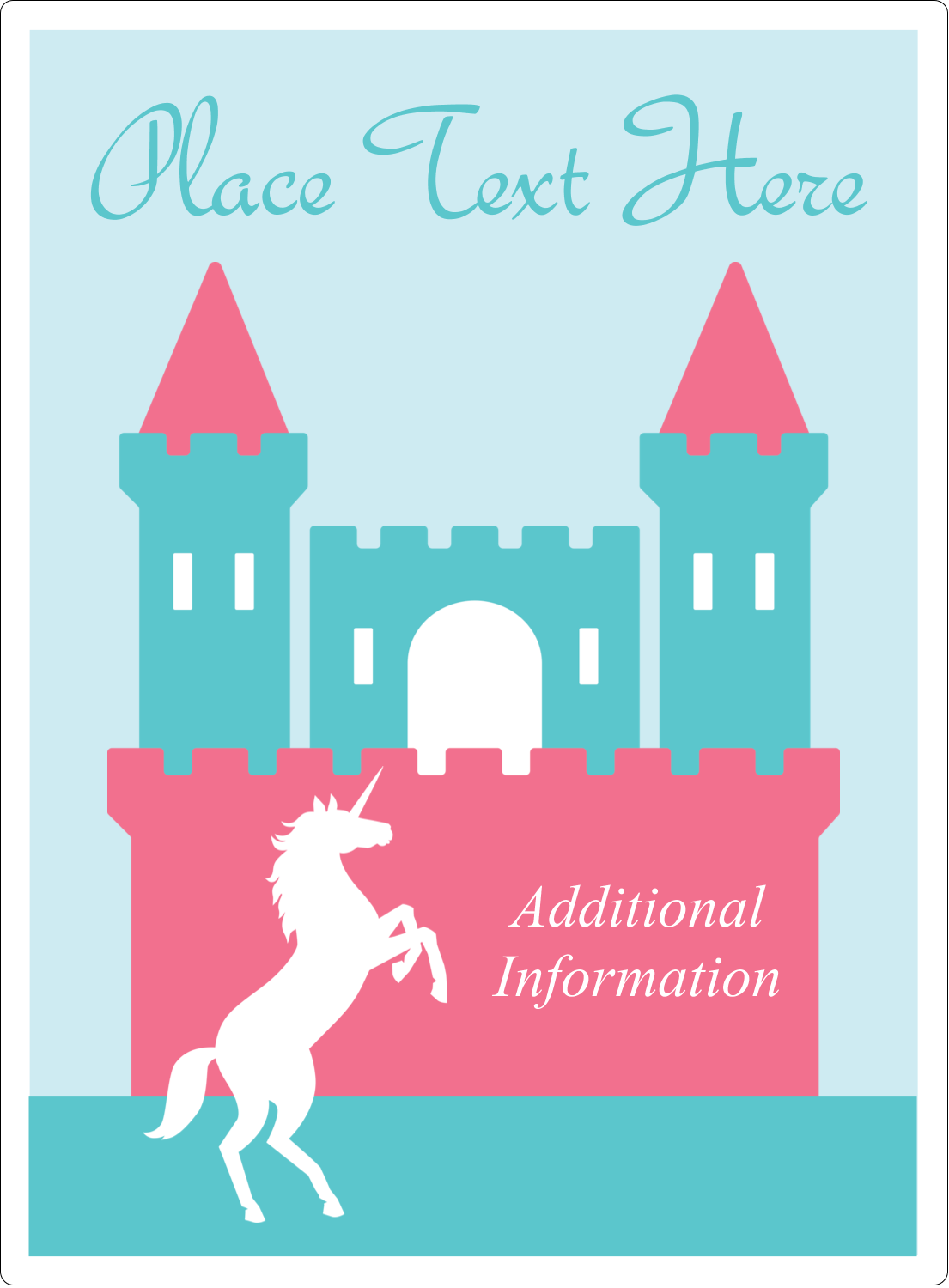 "4¾"" x 3½"" Rectangular Label - Castle"