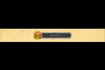 Hamburger Étiquettes ovales - gabarit prédéfini. <br/>Utilisez notre logiciel Avery Design & Print Online pour personnaliser facilement la conception.
