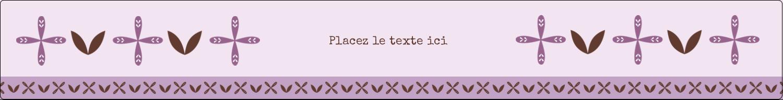 """1½"""" x 2½"""" Étiquettes ovales - Lavande géométrique"""