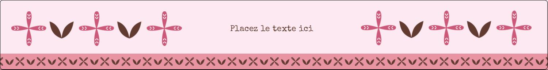 """1½"""" x 2½"""" Étiquettes ovales - Fleurs roses géométriques"""