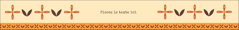 """1½"""" x 2½"""" Étiquettes ovales - Fleurs orange géométriques"""