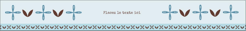 """1½"""" x 2½"""" Étiquettes ovales - Bain bleu"""