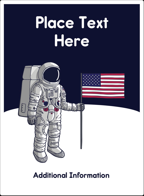 """4¾"""" x 3½"""" Rectangular Label - Astronaut"""
