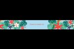 Plantes tropicales Étiquettes ovales - gabarit prédéfini. <br/>Utilisez notre logiciel Avery Design & Print Online pour personnaliser facilement la conception.