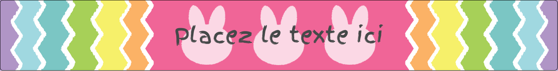 """1½"""" x 2½"""" Étiquettes ovales - Lapin Bonbon"""