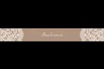 Dentelle de jute Étiquettes ovales - gabarit prédéfini. <br/>Utilisez notre logiciel Avery Design & Print Online pour personnaliser facilement la conception.