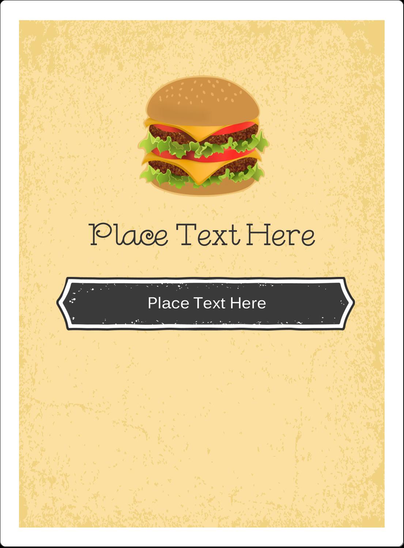 "4¾"" x 3½"" Rectangular Label - Burger"