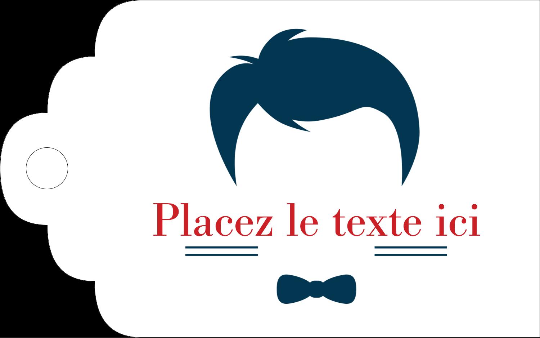 """2"""" x 1⅛"""" Étiquettes imprimables - Salon de barbier"""