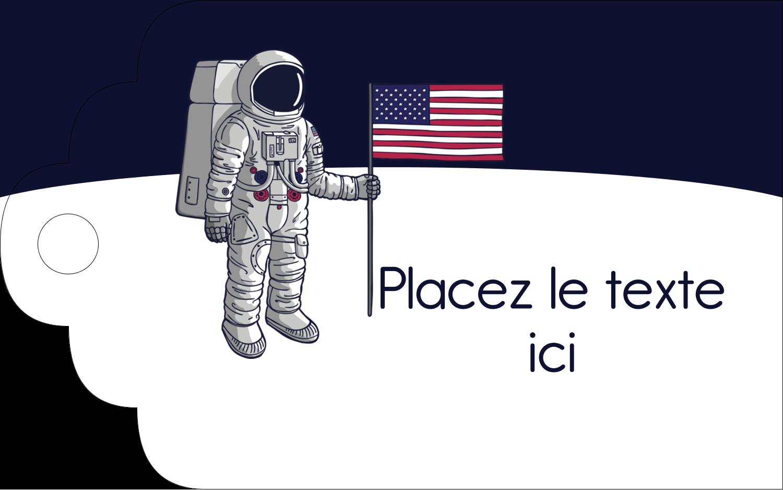 """2"""" x 1⅛"""" Étiquettes imprimables - Astronaute"""