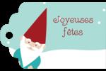 Lutin de Noël Étiquettes imprimables - gabarit prédéfini. <br/>Utilisez notre logiciel Avery Design & Print Online pour personnaliser facilement la conception.
