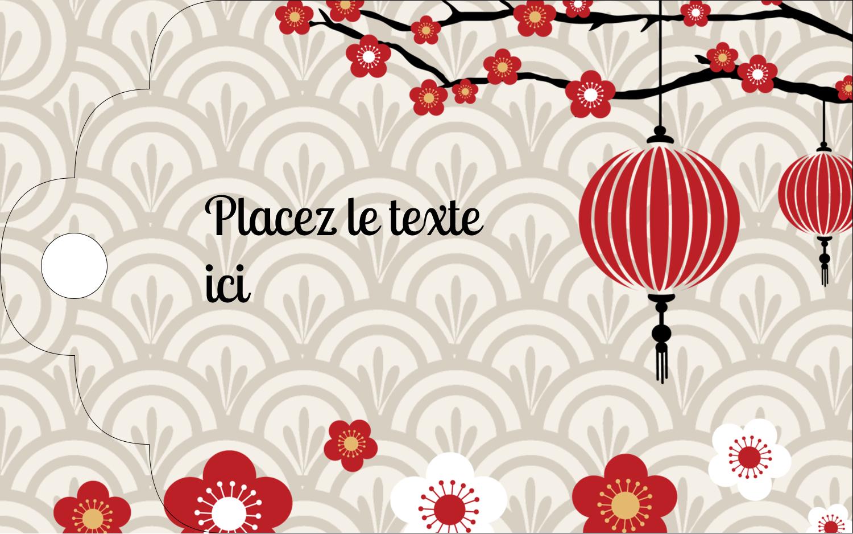 """2"""" x 1⅛"""" Étiquettes imprimables - Nouvel An chinois"""