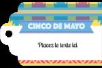 Serape de Cinco de Mayo Étiquettes imprimables - gabarit prédéfini. <br/>Utilisez notre logiciel Avery Design & Print Online pour personnaliser facilement la conception.