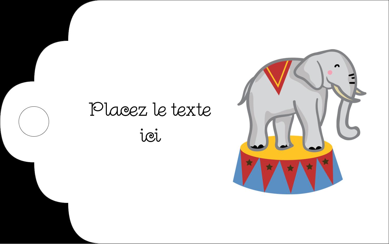 """2"""" x 1⅛"""" Étiquettes imprimables - Anniversaire au cirque"""