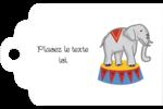 Anniversaire au cirque Étiquettes imprimables - gabarit prédéfini. <br/>Utilisez notre logiciel Avery Design & Print Online pour personnaliser facilement la conception.